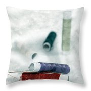 Needle And Thread Throw Pillow
