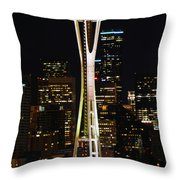 Needle At Night Throw Pillow