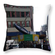 Needle Button Throw Pillow