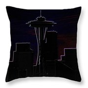 Needle From Kerry Park 2 Throw Pillow