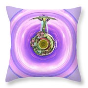 Needle In A Bubble Throw Pillow