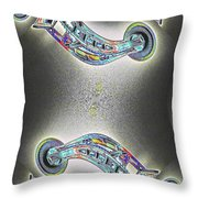 Needle In Fractal Throw Pillow