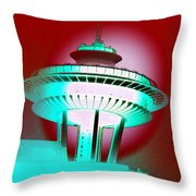 Needle In Red Throw Pillow