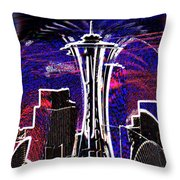 Needle In The City Throw Pillow