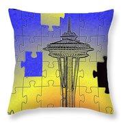 Needle Jigsaw Throw Pillow