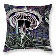 Needle Over Fisher Plaza Throw Pillow