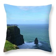 Needle Rock Formation And The Burren Pathway In Ireland Throw Pillow