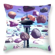 Needle Rocks Throw Pillow