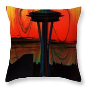 Needle Silhouette 2 Throw Pillow