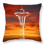 Needle Silhouette Throw Pillow