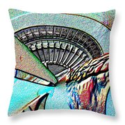 Needle Tubes Throw Pillow