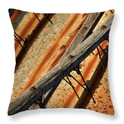 Needles And Wood Throw Pillow