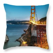 Needles At The Ggb Throw Pillow