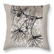 Needles Everywhere Throw Pillow