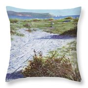 Needles From Hengistbury Head Throw Pillow