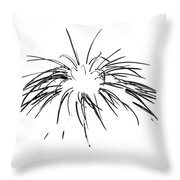 Needles In The Snow Throw Pillow