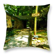 Neel Gap Appalachian Trail Throw Pillow