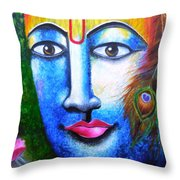 Neela Madhava Throw Pillow