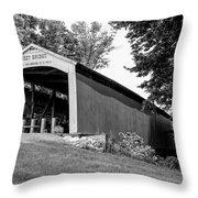 Neet Covered Bridge Throw Pillow