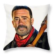 Negan - The Walking Dead Throw Pillow