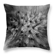 Negative Dandelion Throw Pillow