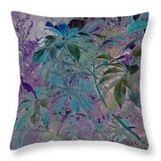 Negative Jungle Throw Pillow