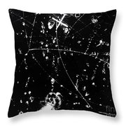 Negative K Mesons, Bubble Chamber Event Throw Pillow