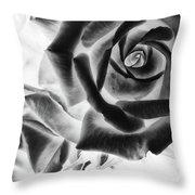 Negative Roses Throw Pillow
