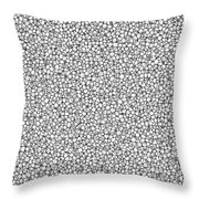 Negative Sponge Bone Confusion Throw Pillow