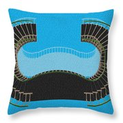Negative Stair 45 Blue Background Architect Architecture Throw Pillow