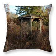 Neglected Old Gazebo Throw Pillow