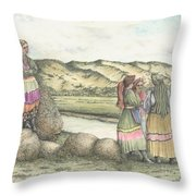 Negotiations Throw Pillow