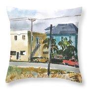 Neighborhood Corner Throw Pillow