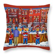 Neighborhood  Hockey Rink Throw Pillow