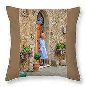 Neighborhood Watch Throw Pillow