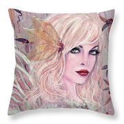 Neira Winter Fairy Throw Pillow