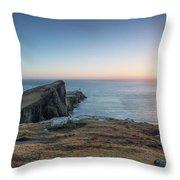 Neist Point Sunset Throw Pillow