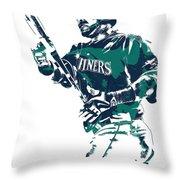 Nelson Cruz Seattle Mariners Pixel Art 5 Throw Pillow