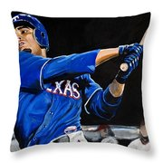 Nelson Cruz Throw Pillow by Tom Carlton