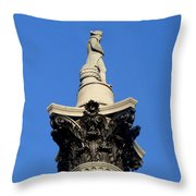 Nelson's Column, Trafalgar Square, London Throw Pillow