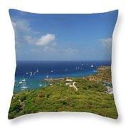 Nelson's Dockyard Antigua Throw Pillow