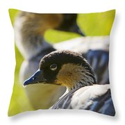 Nene Geese Throw Pillow