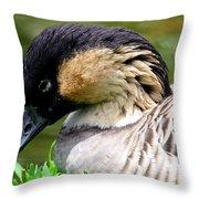 Nene Hawaii State Bird Throw Pillow