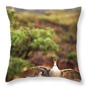 Maui Hawaii Haleakala National Park Nene Hawaiian State Bird Throw Pillow