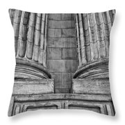Neo Classical Architectural Detail In New York City Throw Pillow