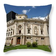 Neo Renaissance Architecture Of The Slovenian National Opera And Throw Pillow