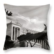 Neoclassical Architecture In Rome Throw Pillow by Stefano Senise