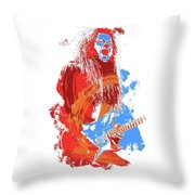 Neoclassical Guitarist Throw Pillow