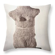 Neolithic Figure Throw Pillow