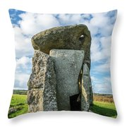 Neolithic Modern Throw Pillow